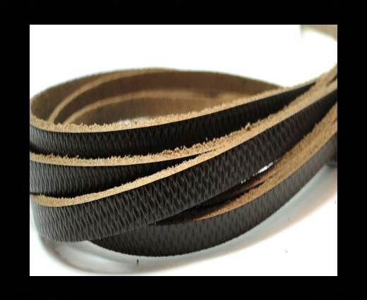 Flat Vintage Leather - 5mm -  spl 12 black
