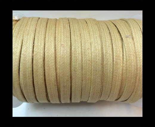 Flat Wax Cotton Cords - 5mm  - Popcorn
