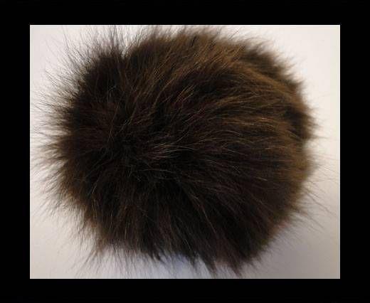 Fox Fur-Dark Brown -14cms
