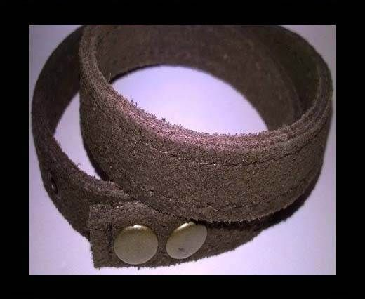 Full Real Leather bracelets - Brown- 43cms