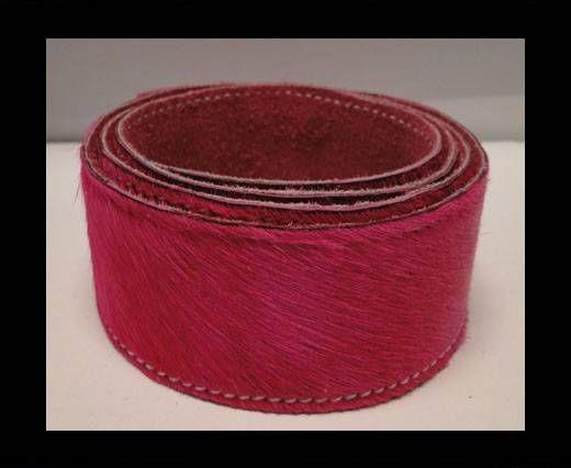 Hair-On Leather Belts-Fuchsia-40mm