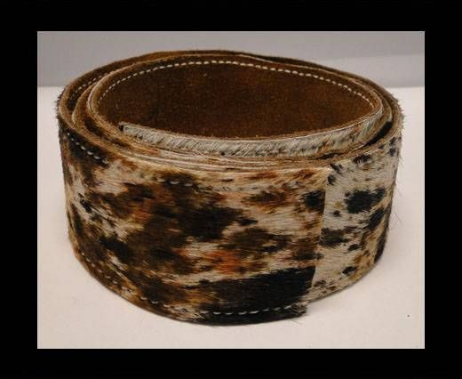 Hair-On Leather Belts-Tiger Skin-40mm