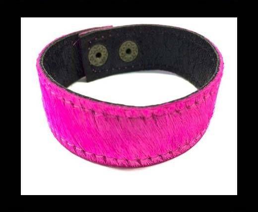 Hair-on bracelet-Fuscia-20mm