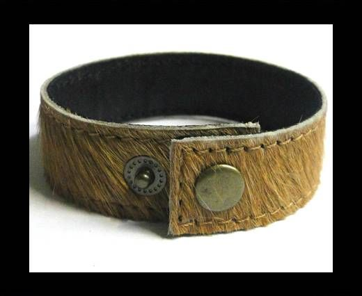 Hair-on ready bracelet - 20mm - Light Brown