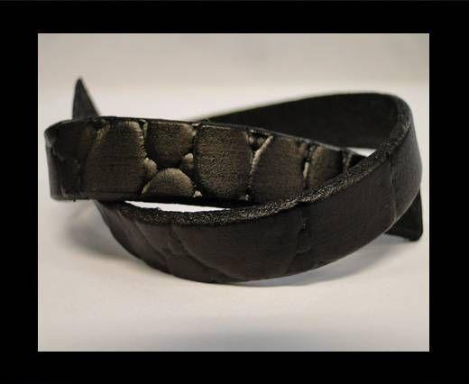 Italian Flat Leather-Coco Black