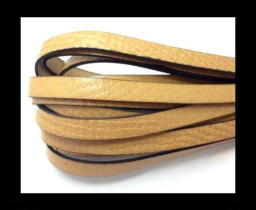Italian leather 10mm Crocodile Style - Natural