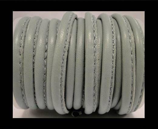 Round stitched nappa leather cord 5MM-Grey