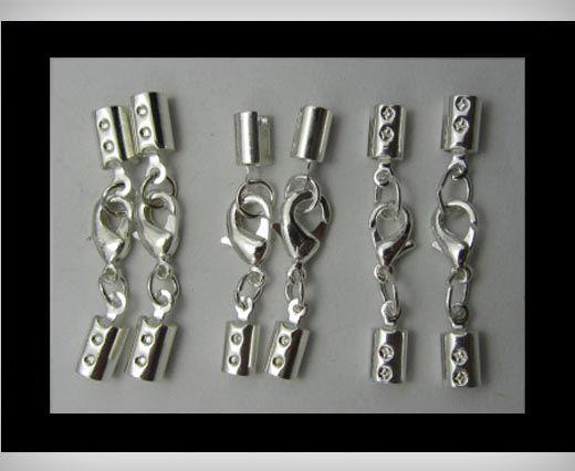 Leder Abschlussstück FI7011-Silber-3mm