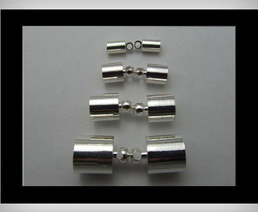 Leder Abschlussstück FI7013-Silber-4mm