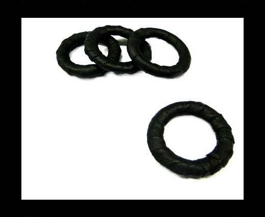 LLeather Rings-Black-34mm