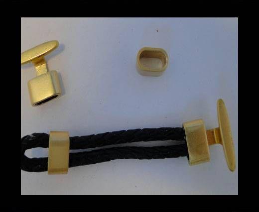 Lederverschlüsse-ZAML-12-gepudertes Gold
