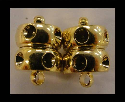 Magnetverschluss-Diamant Schnitt-MG4-10mm-Gold