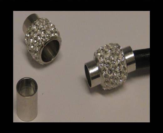 Zamak magnetic clasp SML-Crystal-6mm