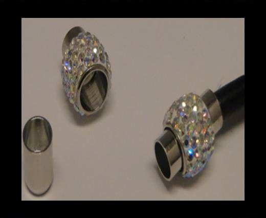 Zamak magnetic clasp SML-Crystal AB-6mm
