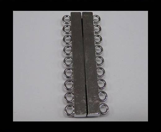 Zamak magnetic clasp MGL-230-52mm Steel Silver