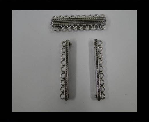 Zamak magnetic clasp MGL-285-57mm-Antique SILVER