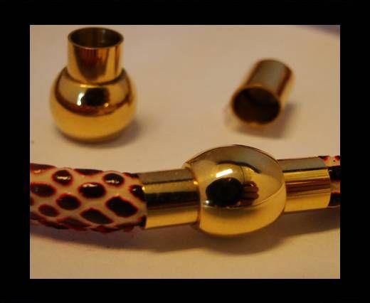 Verschlüsse für Lederkordeln - MGST-01 - 4mm - Gold