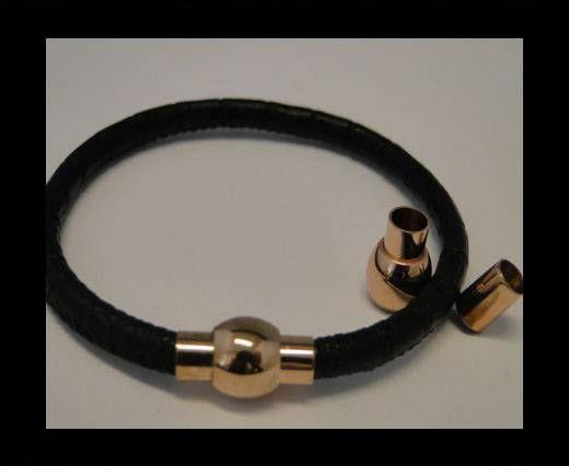 Verschlüsse für Lederkordeln - MGST-01 - 5mm - Rose Gold