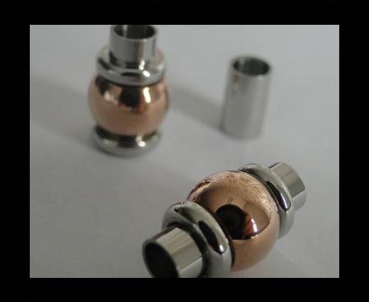 Verschlüsse für flaches Leder - MGST-101 - 4mm - Rose Gold