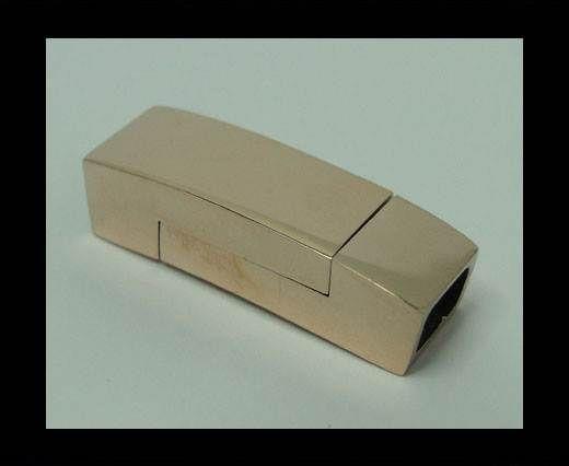 Verschlüsse für flaches Leder - MGST-1002 - 5*3mm - Rose Gold