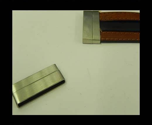 Verschlüsse für flache Lederkordeln - MGST 105 - 30*3 mm - Matt