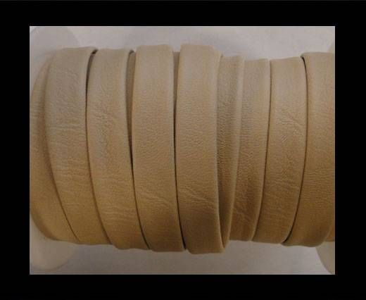 flaches Nappa PU - Creme - 10mm