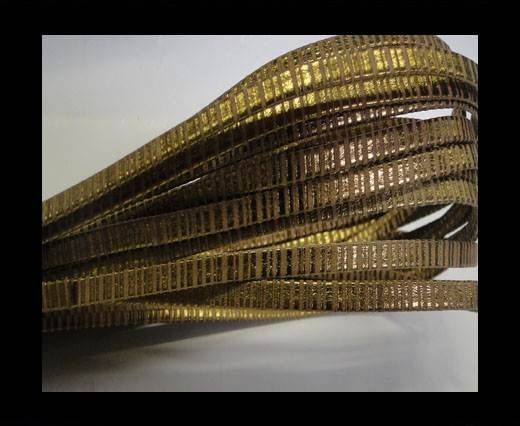 Nappa Leather Flat -5mm-Folden Spyral Style Gold