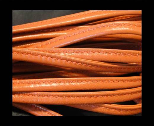 Nappaleder, gesäumt, 7mm - Orange