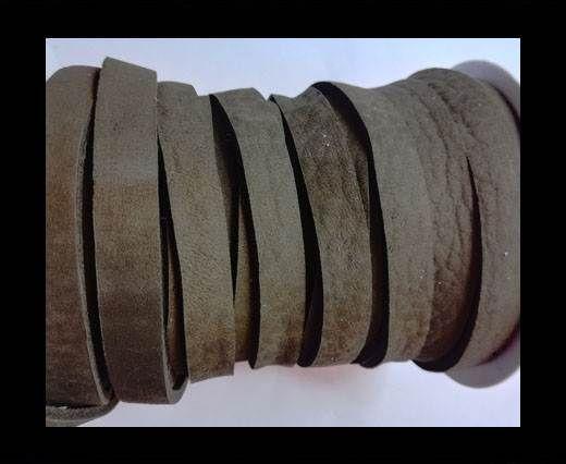 Nubuck Flat - 10mm - MEDIUM BROWN