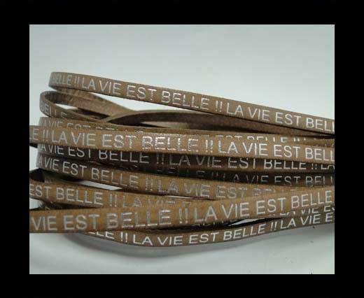 Real Flat Leather-LA VIE EST BELLE-Silver-beige