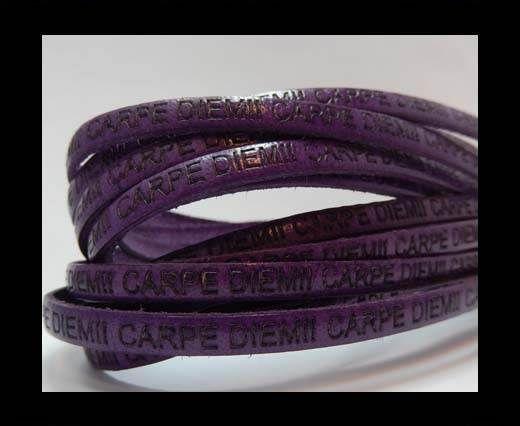 Real Flat Leather-CARPIDIEM-Purple