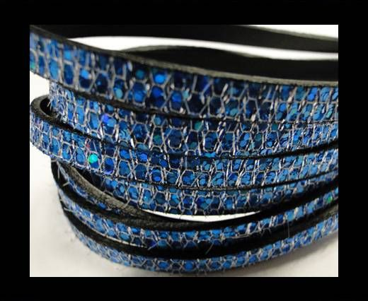 Real Nappa Leather - BLUE -Glitter Style -10mm