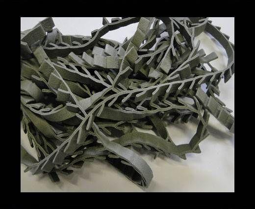 Real Nappa Leather Ribbon Style -7mm- Dark Green