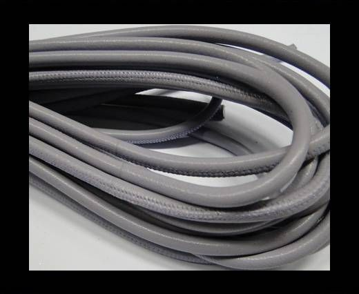 Round stitched nappa leather cord 6mm-Lilac