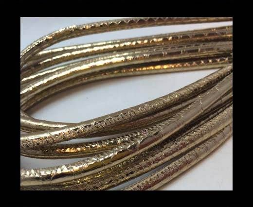 Real Phython Cords Round- 6mm Gold
