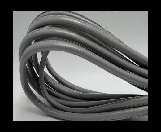 Nappaleder, rund gesäumt - 8mm - Grau