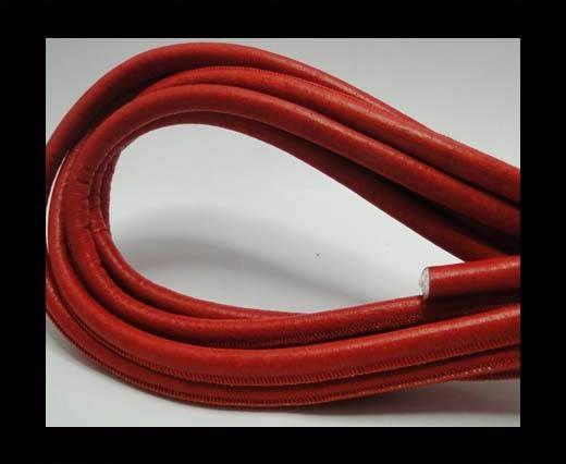 Nappaleder, rund gesäumt - 8mm - Malboro Rot