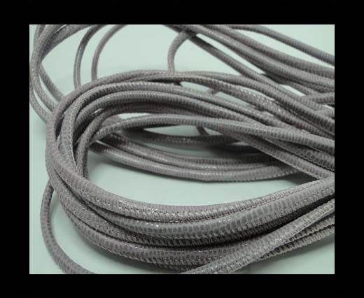Real Round Nappa Leather cords - Lizard Prints-Rose Lizard- 2.5m