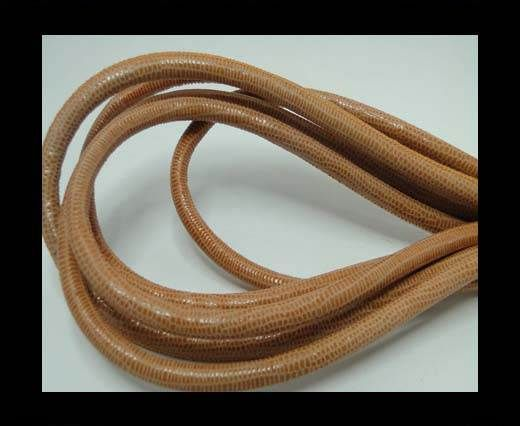 Real Round Nappa Leather cords - Lizard Prints -Orange Lizard- 6