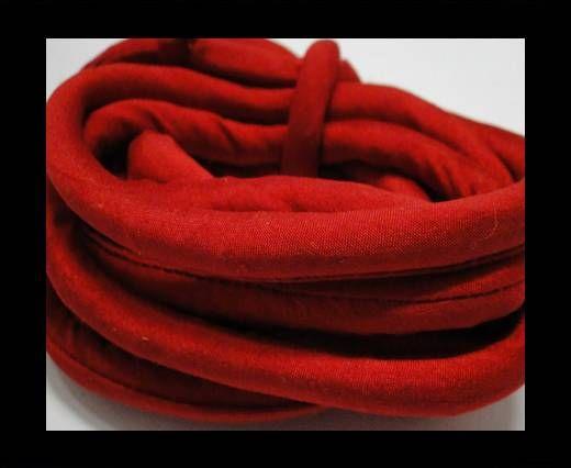 Seidenband mit Baumwollfüllung - 8 mm - Rubinrot
