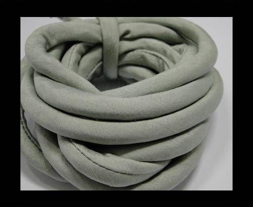 Seidenband mit Baumwollfüllung - 8 mm - Stony Mist