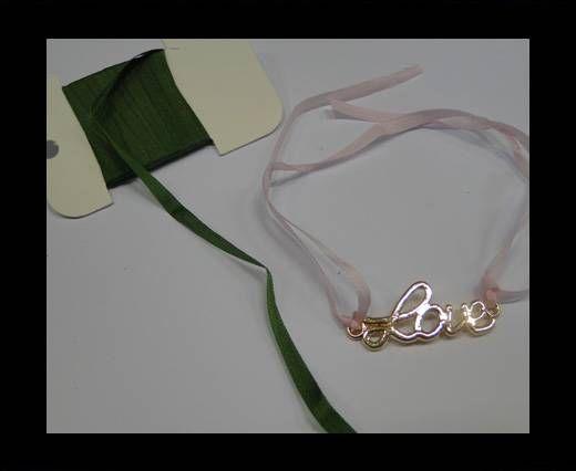 Real Silk Ribbons -A 161-Green - 4mm