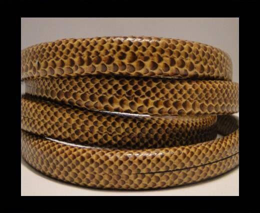 Regaliz-Leder-Snake Style-Dunkelbraun