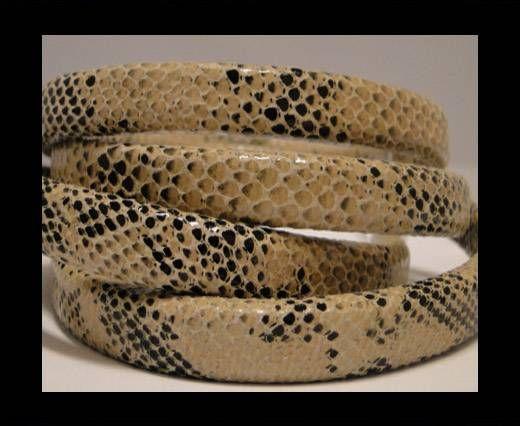 Regaliz-Leder-Snake Style-Beige