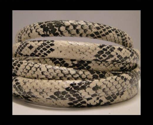 Regaliz-Leder-Snake Style-Creme