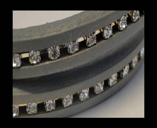 Regaliz-Leder-Kristall-Grau