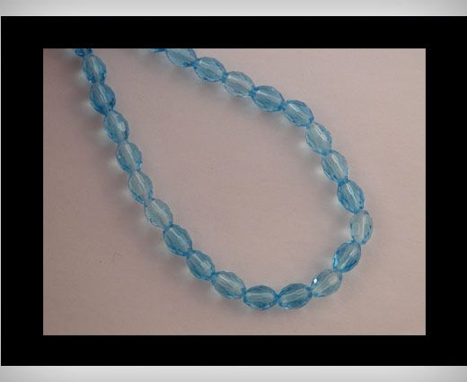 Rice Glass Beads -4mm*6mm-Turqoiuse