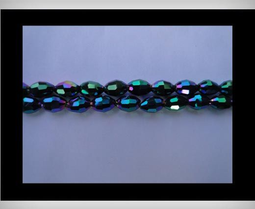 Rice Glass Beads - 4mm*6mm- Cosmo Jet
