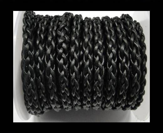 Round Braided Bolo cords - 6mm-SE Black