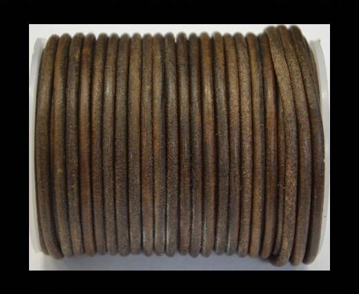 Round Leather Cord 4mm-Vintage Tan